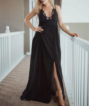 Sweet Nothings Black Maxi | Bella Allure Boutique