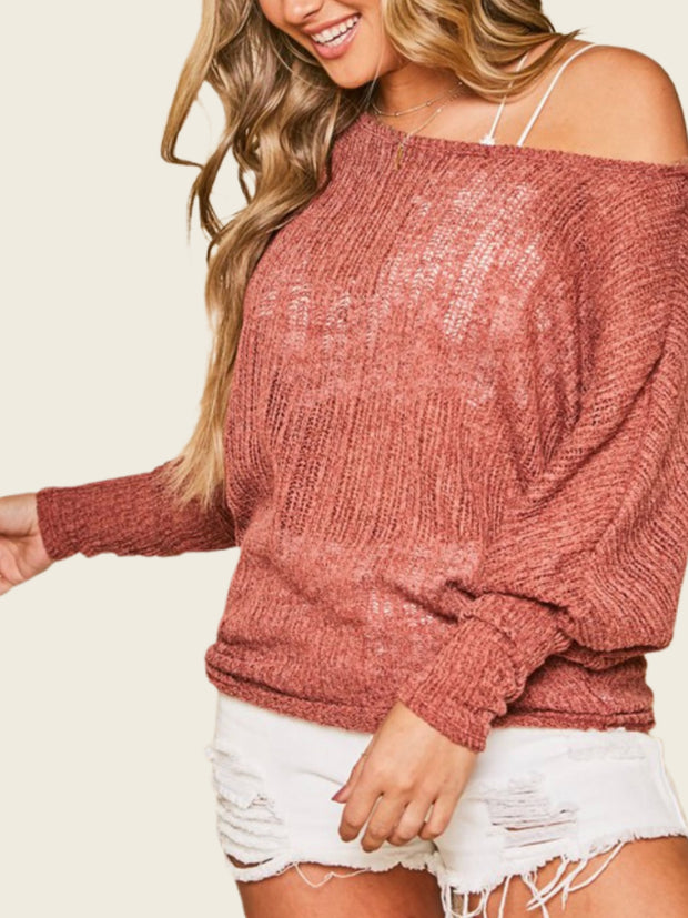 Settle Down Sweater Top