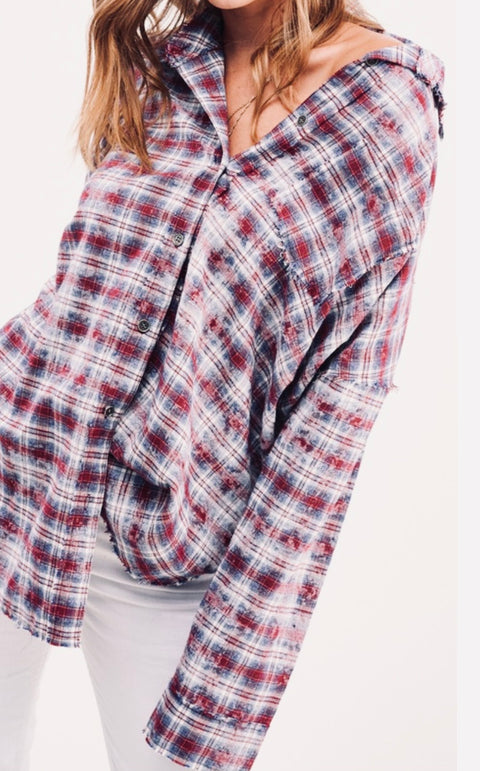 Faint Of Heart Flannel Red