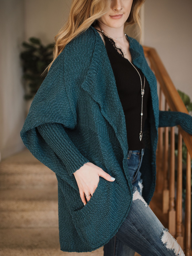 Well Rounded Cardigan Teal