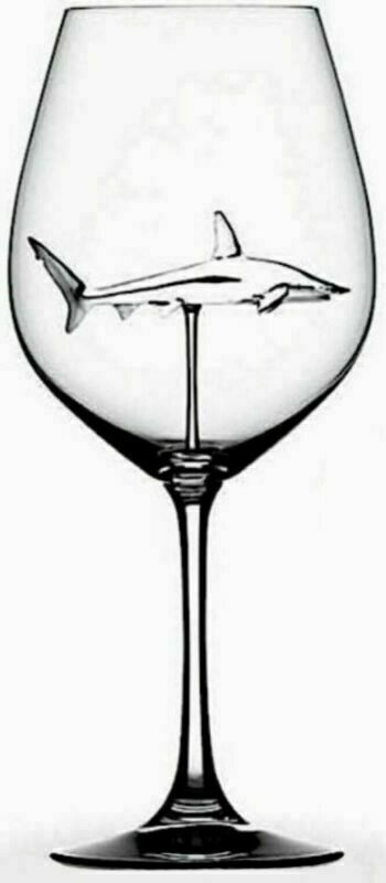 Shark Red Wine Glass
