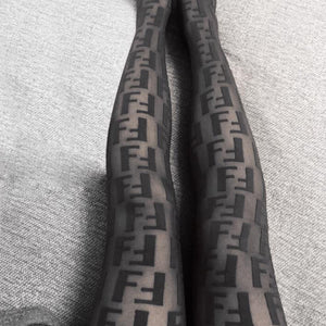 Black Fendi Stockings