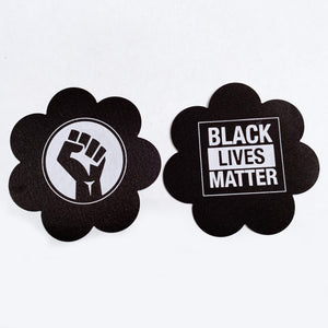 1 Pair of Black Lives Matter BLM Designer Nipple Pasties