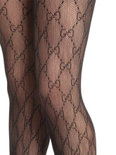 Load image into Gallery viewer, Black Gucci Stockings