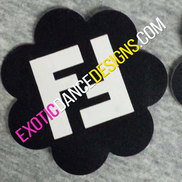 1 Pair of Fendi Designer Nipple Pasties