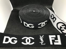 Load image into Gallery viewer, 6 Yards 4cm Elastic Waistband material Designer Bands Jacquard Bandz