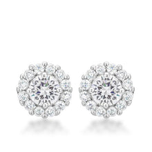 Load image into Gallery viewer, Bella Bridal Earrings in Clear