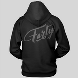 Forty OG Mens Black Lightweight Hoodie
