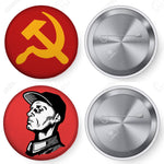 Dan Cates Soviet Pin Badges