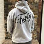 Forty OG Mens Heather Grey Lightweight Hoody