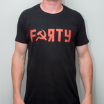 Dan Cates Forty Soviet Mens Black T- Shirt