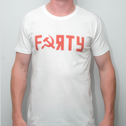Dan Cates Forty Soviet Mens White T- Shirt