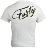 Forty OG Mens White/Camo T-Shirt