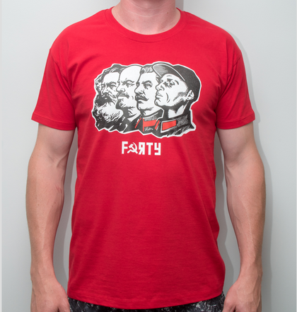 Dan Cates Squad Goals Mens Red T-Shirt