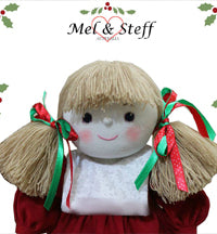 Mel and Steff handmade dolls