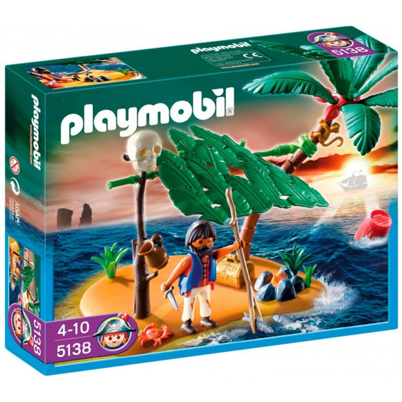 Playmobil Pirate Castaway on Palm Island Set 5138