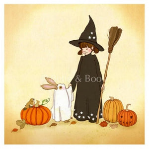 "Belle and Boo 10 x 10"" Print - Trick or Treat"