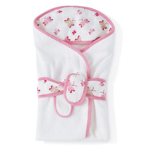 Aden and Anais Princess Posie Baby Bath Wrap