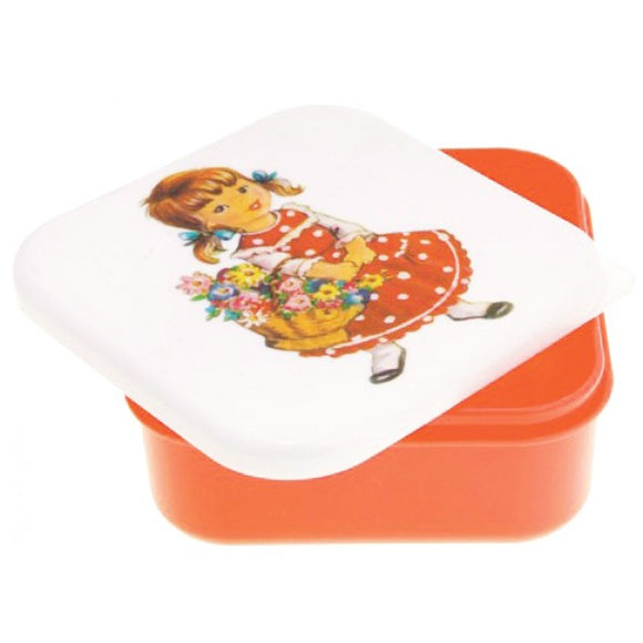 Alimrose Girl With Flowers Small Snack Box - Red