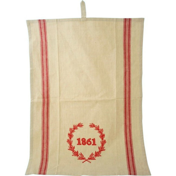 Alimrose Linen Kitchen Tea Towel In Red
