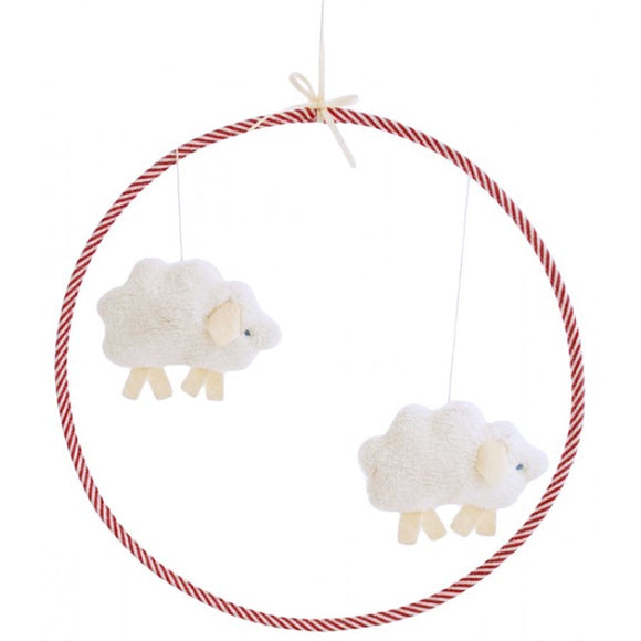 Alimrose Lamb Mobile in Red
