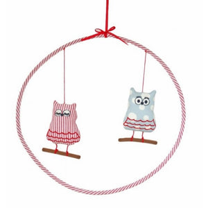Alimrose Sleepy Owl Mobile in Red and Blue