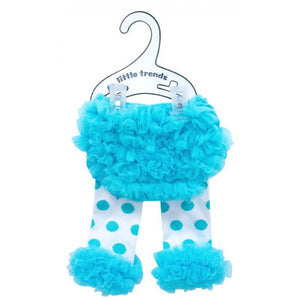 Annabel Trends Blue Dots Baby Bloomers And Leg Warmers