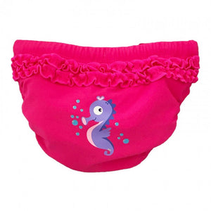 Baby Solutions Pink Reusable Swim Nappy - Rear