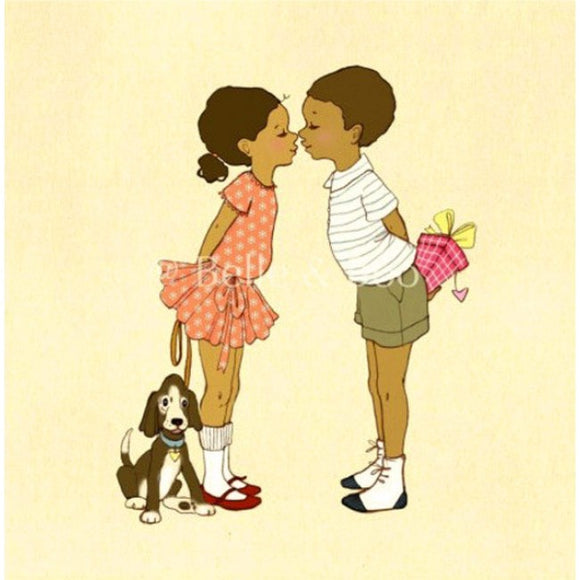 Belle and Boo Eskimo Kisses 10''x10'' Print
