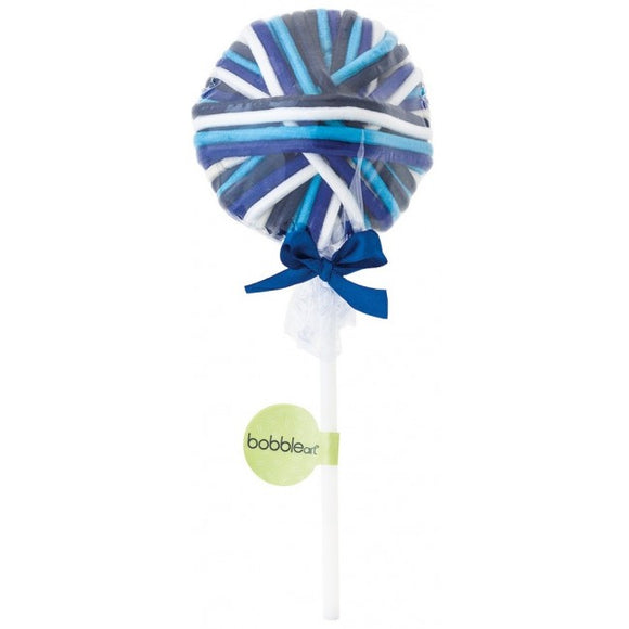 Bobble Art Lollipop Blue Hair Elastics
