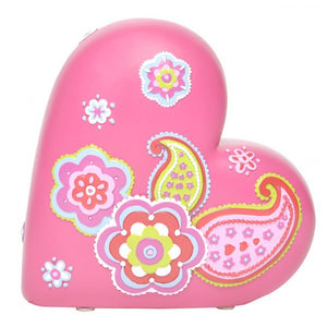Bobble Art Heart Paisley Money Box