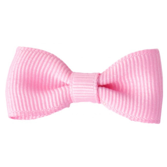 Bobble Art Pink Small Bow Snap Clip