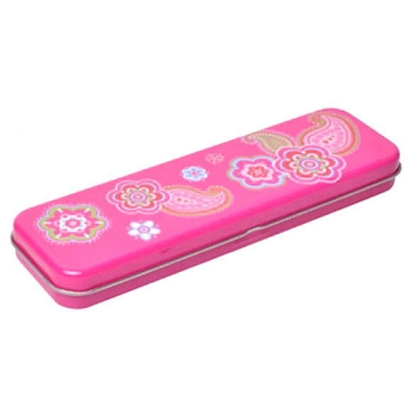 Bobble Art Paisley Pencil Tin Case