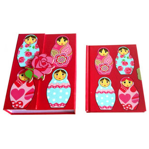 Bobble Art Babushka Lockable Diary With Case