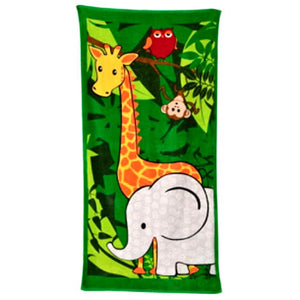 Bobble Art Jungle Beach Towel: 75 x 150cm