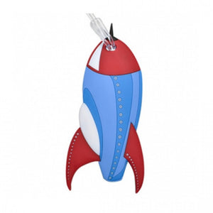 Bobble Art Rocket Baggage Tag