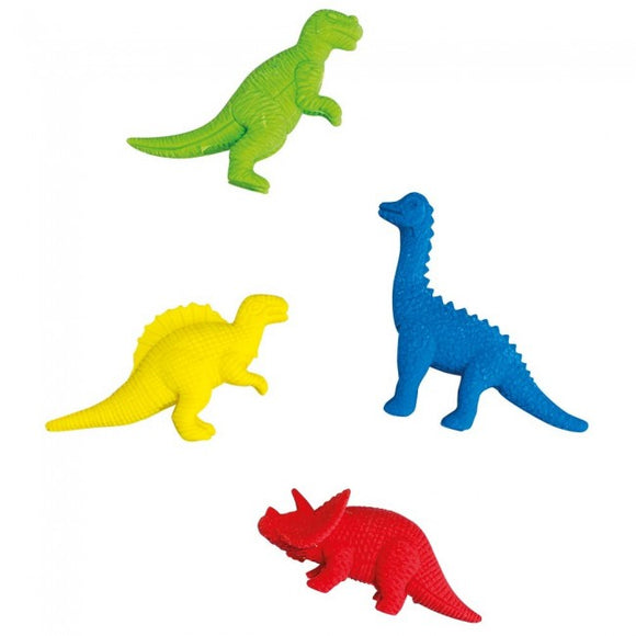 Bobble Art Dinosaur Eraser Zip Pack 4pc