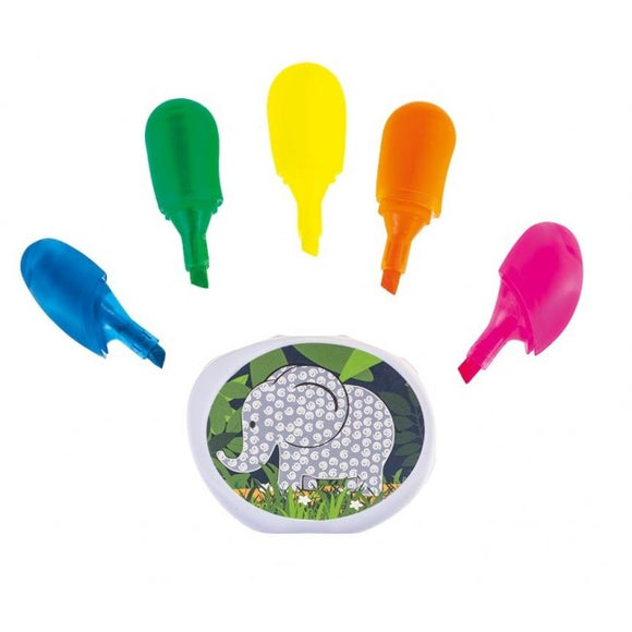 Bobble Art Jungle 5 Colour Hand Highlighter