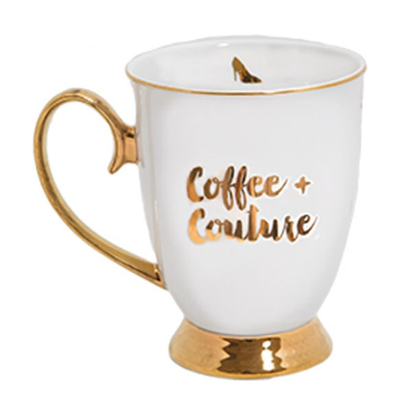 Cristina Re Signature Mug - Coffee And Couture - Set of 4