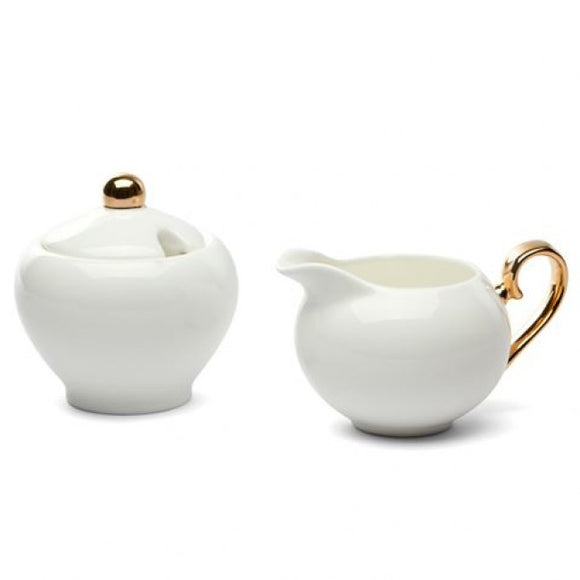 Cristina Re Ivory Sugar Bowl & Creamer Set