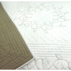 Dlux Melody Quilted Cot Cover In Natural