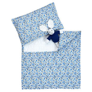 Dlux Tinker Quilted Bassinet Cover And Pillow Set In Blue