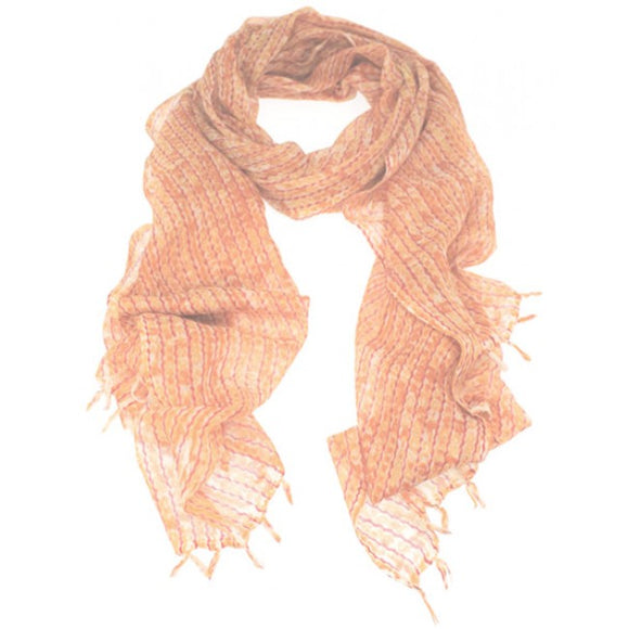 Dlux Sequins Women Wrap In Orange