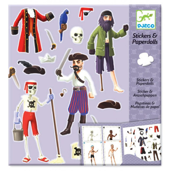 Djeco Pirates Stickers And Paperdolls 6-11Yrs