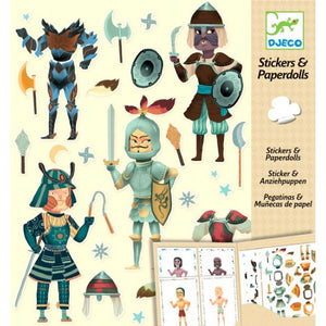 Djeco Knights Stickers And Paperdolls 6-11Yrs