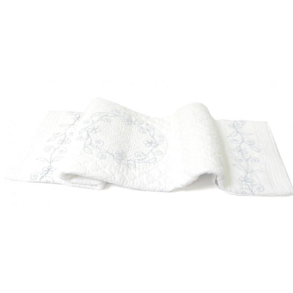Dlux Robbie Quilt Cotton Cot Cover in Blue