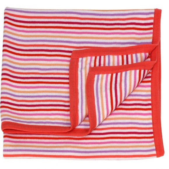 Dlux Rainbow Knit Stripe Bassinet Cover in Floss