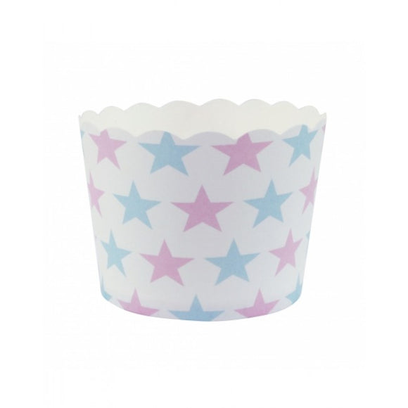 Dollyrockets Blue & Pink Star Baking Cups - 25pk