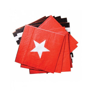 Dollyrockets Red Star Paper Napkins - 20pk