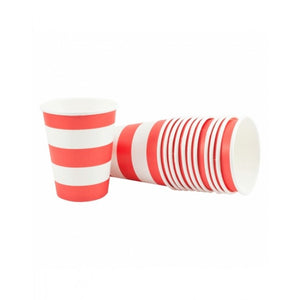 Dollyrockets Red Stripe Paper Cups - 12pk